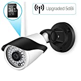 Outdoor WiFi Security Camera, HD 1080P Wireless Survenience IP Camera with 32GB SD Card, IP66 Waterproof Bullet Cameras for Home, Support Motion Detection FTP 65ft Night Vision Remote View Onvif Cam