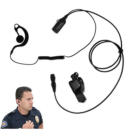 Falcon EP323QR Quick Release Lapel Microphone for Motorola XTS5000 XTS3500 XTS3000 XTS2500 XTS1500 by The Ear Phone Connection