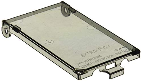 Arlington Industries DBVC-1 Wall Plate Cover, Clear (Enclosure Type Cover 3r)