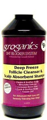 Groganics Deep Freeze Follicle Cleanser Shampoo & Scalp Abosorbent Shampoo, 8 Ounce
