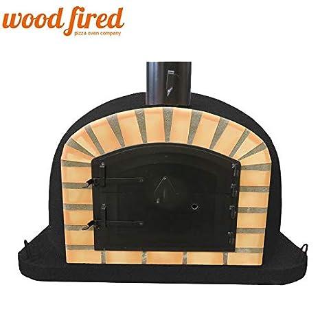 Woodfired Maxi-Deluxe - Horno de Pizza con Puerta Negra (1), 80 cm ...