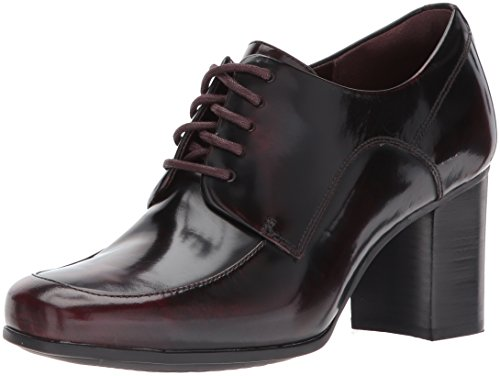 CLARKS Women's Kensett Darla Oxford, Burgundy, 8 M US by CLARKS