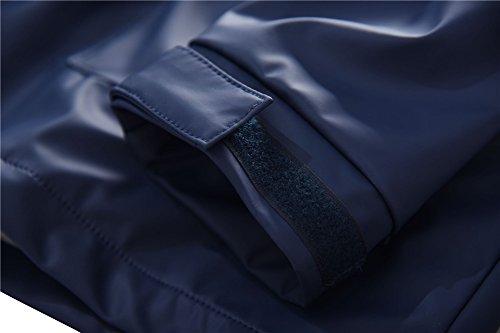 M2C Boys Outdoor Color Block Fleece Lining Windproof Jackets with Hood