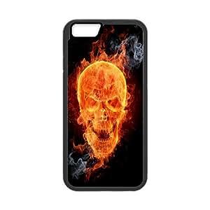 """ZK-SXH - Flame Skull Customized Hard Back Case for iPhone6 4.7"""", Flame Skull Custom Cover Case"""