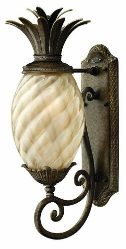 Hinkley 2120PZ, Plantation Outdoor Wall Sconce Lighting, 75 Total Watts, (Plantation Pineapple Wall)