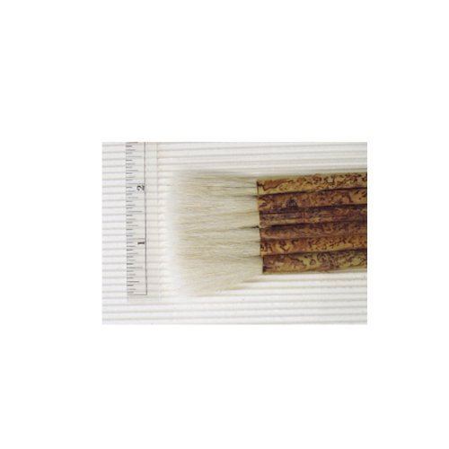 Yasutomo Sheep Hair Short Bamboo Handle Hake Brush, 1-7/8 in by Yasutomo