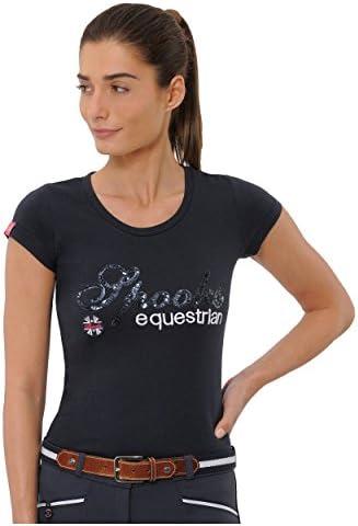 Spooks t-shirt dla kobiet i dziewcząt, dzieci, taliowany letni T-shirt z nadrukiem z Frotee – wygodny i stylowy Roxie Sequin – XS-XL: Odzież