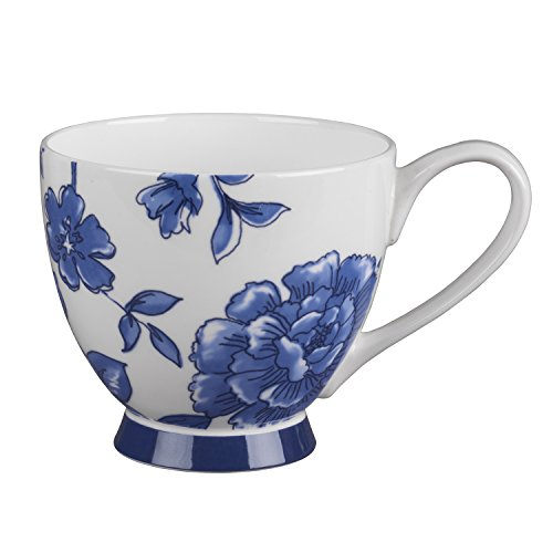 China Footed Mug Perla Blue -