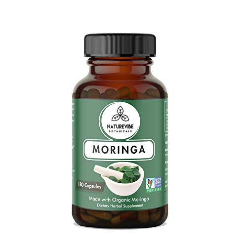 Cheap 180 Capsules Organic Moringa Oleifera, Ultra-Premium –100% Organic Moringa Leaf Powder, 700mg Per Serving | Veg Capsules | Non-GMO and Gluten free | Antioxidant Supplement | Weight loss and Anti-aging