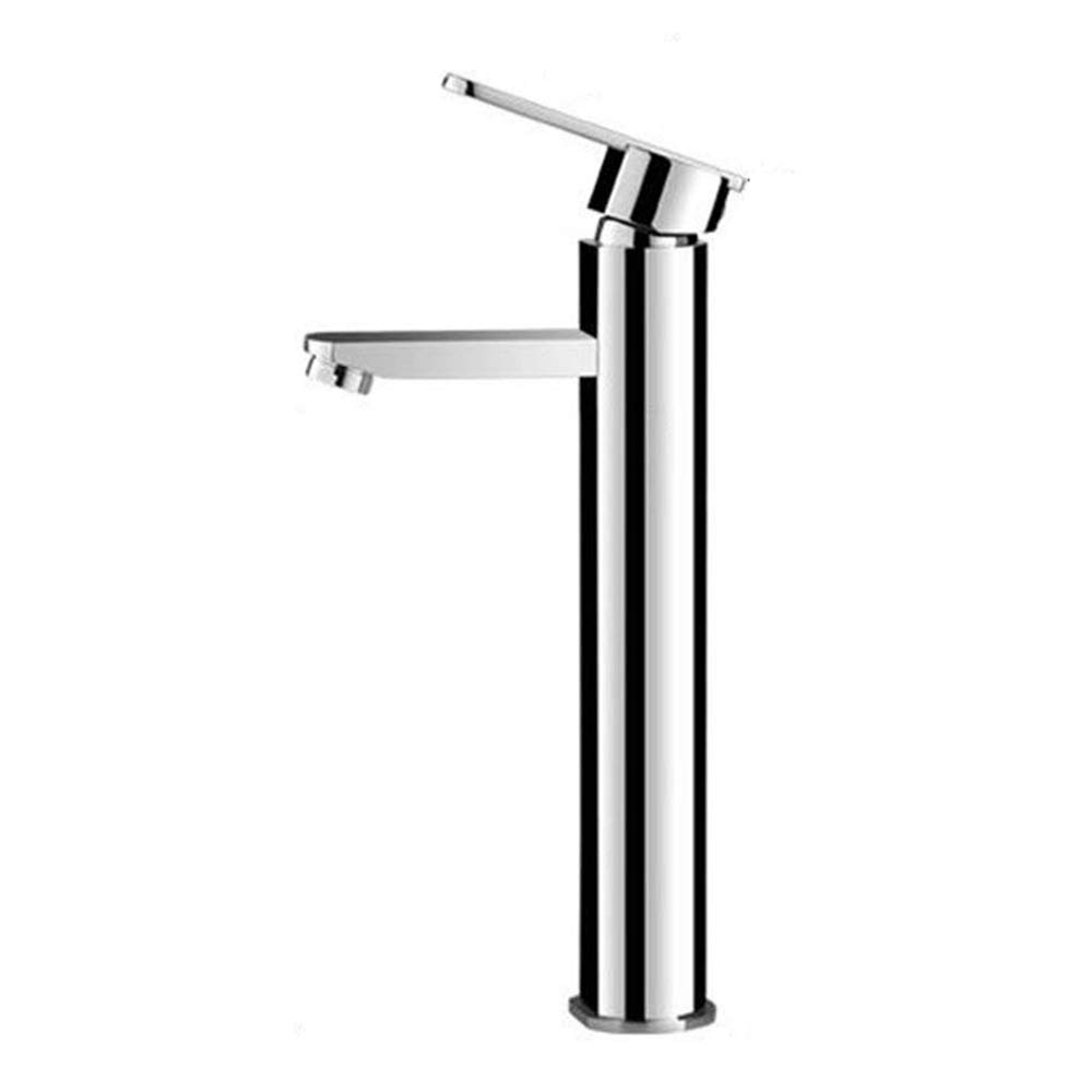 High Spout Basin Mixer Tap Bathroom Chrome Bath Tap Brass Basin Mixer Tap Wash Basin Countertop Basin Single Lever Mixer Tap for Wash Basin Mixer for Bath Room