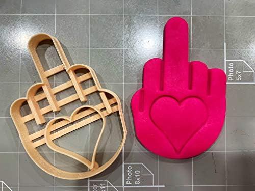Cookie Cutz Cortador de Galletas, diseño de Dedo Medio con corazón ...