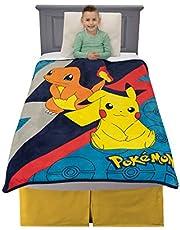 "Franco Kids Bedding Super Soft Plush Micro Raschel Throw, 46"" x 60"", Pokemon"