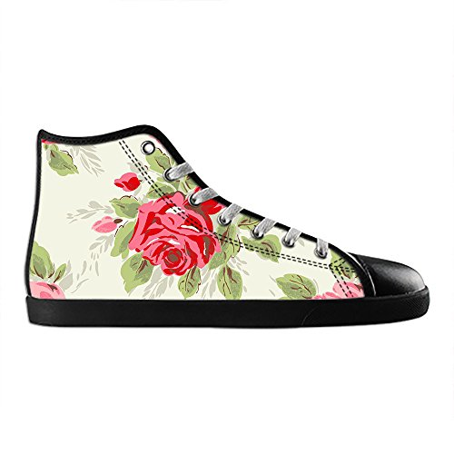 Dalliy Floral Flower Mens Canvas shoes Schuhe Lace-up High-top Sneakers Segeltuchschuhe Leinwand-Schuh-Turnschuhe E