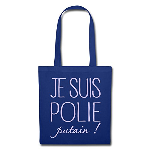 Spreadshirt Polie Je Bleu Suis Tote Bag Putain Royal 6rUvqwf6n