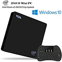 [2GB + 32GB + 128G] J-DEAL® Z83 Windows 10 Mini PC 4K Intel Z8350 Atom CPU 64Bit HD Extendable WiFi 2.4G/5.8G Ethernet 1000Mbps LAN Bluetooth BT 4.0 USB 3.0 TV BOX + Free Wireless keyboard