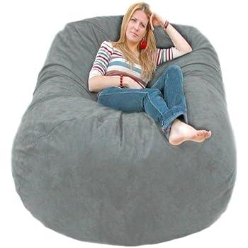 Cozy Sack 6 Feet Bean Bag Chair Large Grey
