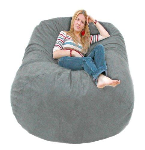 Cozy Sack 6-Feet Bean Bag Chair, Large, Grey by Cozy Sack