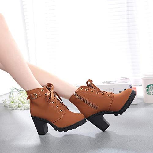 Schnalle Mode gelb Herbst Gewebte Hochzeit Ferse Stiefel VJGOAL Keile Niet Damen Boho Winter Schuhe Damen T Stiefel Stiefelette Party FngOqC