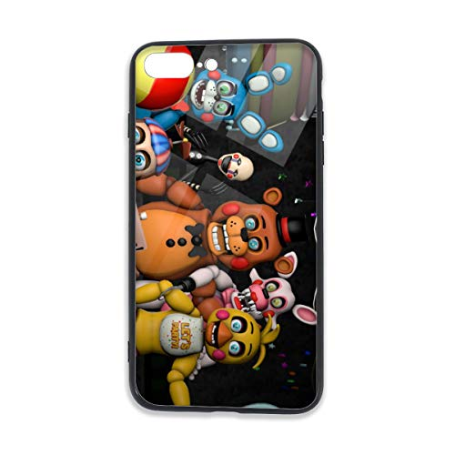 Five Nights at Freddy's iPhone 8 Plus Case Tempered Glass iPhone 7 Plus Cases Fashion Design Shockproof Anti-Scratch Case 5.5 Inch