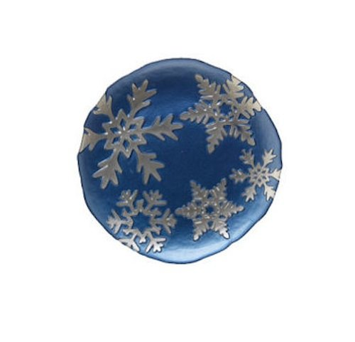 Vietri Snowflake Salad Plate -Blue ()