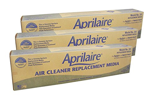 Aprilaire 201 – MERV 10 Factory Replacement Air Filter Media for Model 2250 and 2200 (3-Pack)