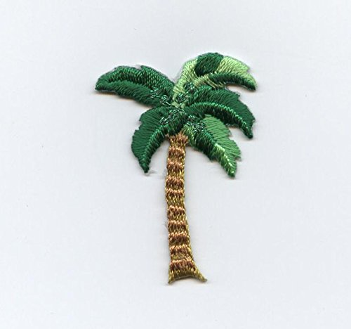 Small Tropical Palm Tree Iron on Embroidered - Iron On Palm Tree
