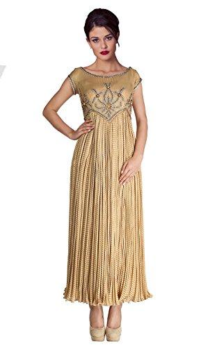 Mishka Women's Golden Best Anarkali Churidar Kameez Medium - 36