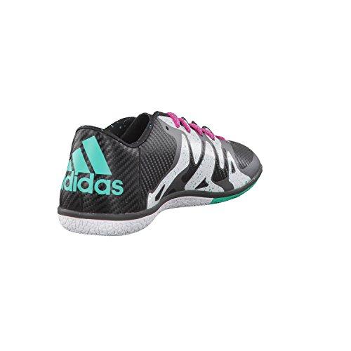 adidas X 15.3 In, Botas de Fútbol Para Hombre, Negro/Verde/Blanco (Negbas/Menimp/Ftwbla), 45 1/3 EU