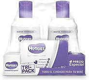 Huggies Cuidado Relajante, Pack con Jabón para bebé, shampoo para bebé y crema para bebé