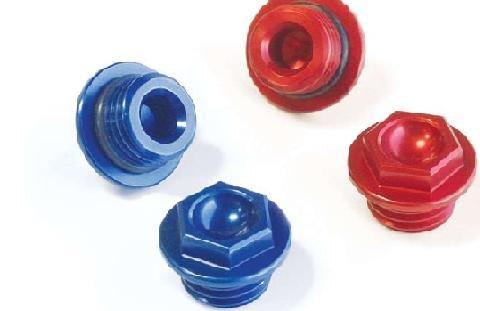 - Works Connection Oil Filler Plug - Blue 24-002