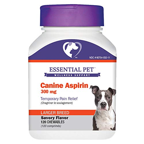 Canine Aspirin 300mg Temporary Pain Relief for Larger Breed Dogs
