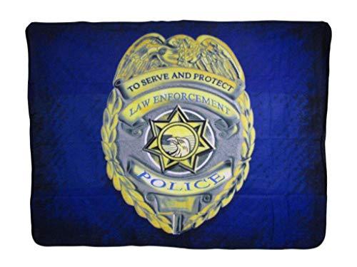 - K's Novelties Police Badge Law Enforcement Serve Protect 50x60 Polar Fleece Blanket Throw