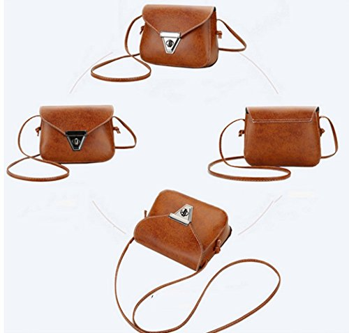 Pouch Bag Crossbody Wallet Satchel Mini Leather Red Cellphone Purse Sling Shoulder YaJaMa pqt8xHIO