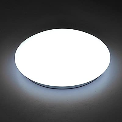 AFSEMOS 14-Inch LED Flush Mount Ceiling Light , 18W,4500K Round Ceiling Lighting,LED Ceiling Lighting for Bedroom Living Room Kitchen, 90W Halogen Bulbs Equivalent, 1600lm,