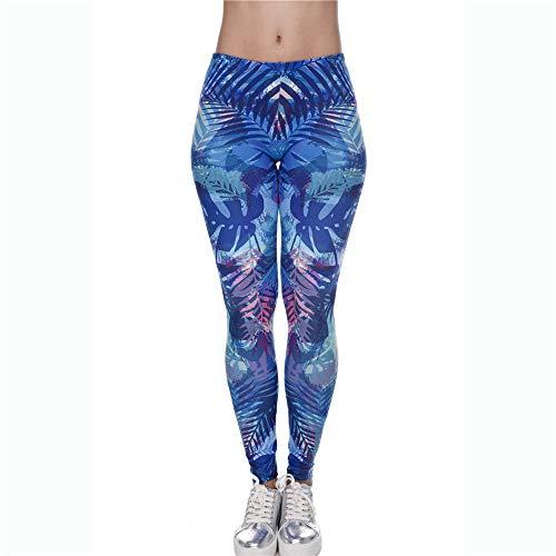 donna da 3D Lybtrouser pantaloni primavera e pantaloni slim pantaloni Stampa da leggings autunno donna elasticizzati alta Pantaloni p50qE