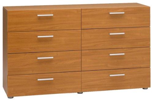 Tvilum Austin 8-Drawer Dresser - Cherry Austin Collection Scratch resistant, easy to assemble - dressers-bedroom-furniture, bedroom-furniture, bedroom - 41Kq3JOSVEL -