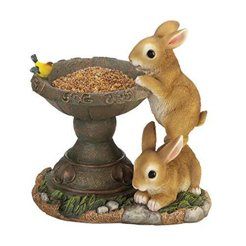 Koehler Adorable Playful Bunnies Bird Feeder ()