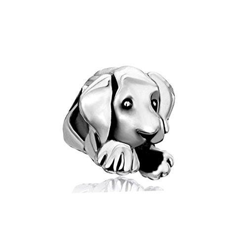 Pugster Sleepy Cute House Puppy Dog Animal Beads Fits Pandora Charms Bracelet ()