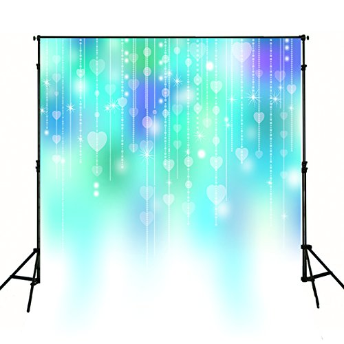 Baby Newborn Photography Backdrops Blue Purple Green Backgrounds for Photo Studio Cloth Printed Bling Curtain Children Kids Booth Shoot Props