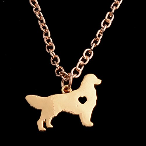 Dog Borzoi Necklace - Dog Pet Paw Prints Pendant Necklace Heart Leather Choker Jewelry All Paws Matter Gold Borzoi