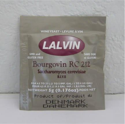 Lalvin Bourgovin RC 212 Wine Yeast, 5 grams - 5-Pack ()
