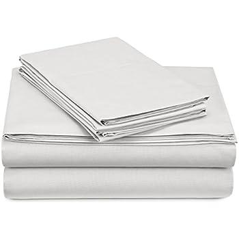 Pinzon 300-Thread-Count Percale Sheet Set - Queen, White