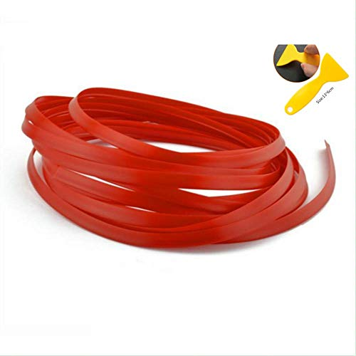 3D DIY Automobile Car motor Interior Exterior Decoration Moulding Trim Strip line by NERLMIAY (Blue/Orange/Red) (Red)