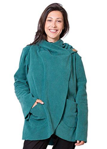 Coton Du Monde - Abrigo - para mujer Verde