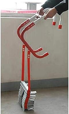 chora Escalera De Cuerda De Nylon, Escaleras De Extensión Metálicas, Escalera Retráctil con Peldaños Antideslizantes, con Gancho De Acero Inoxidable, Portátil, 3 Tamaños, Instalación Rápida: Amazon.es: Hogar