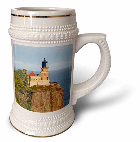 3dRose Danita Delimont - Lighthouses - Minnesota, Lake Superior North Shore. Split Rock Lighthouse - 22oz Stein Mug ()