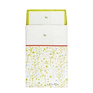 Baby Bettwäsche Ikea ikea fagelsang bettwäsche 3 tlg f baby mit spannlaken grün 110 x