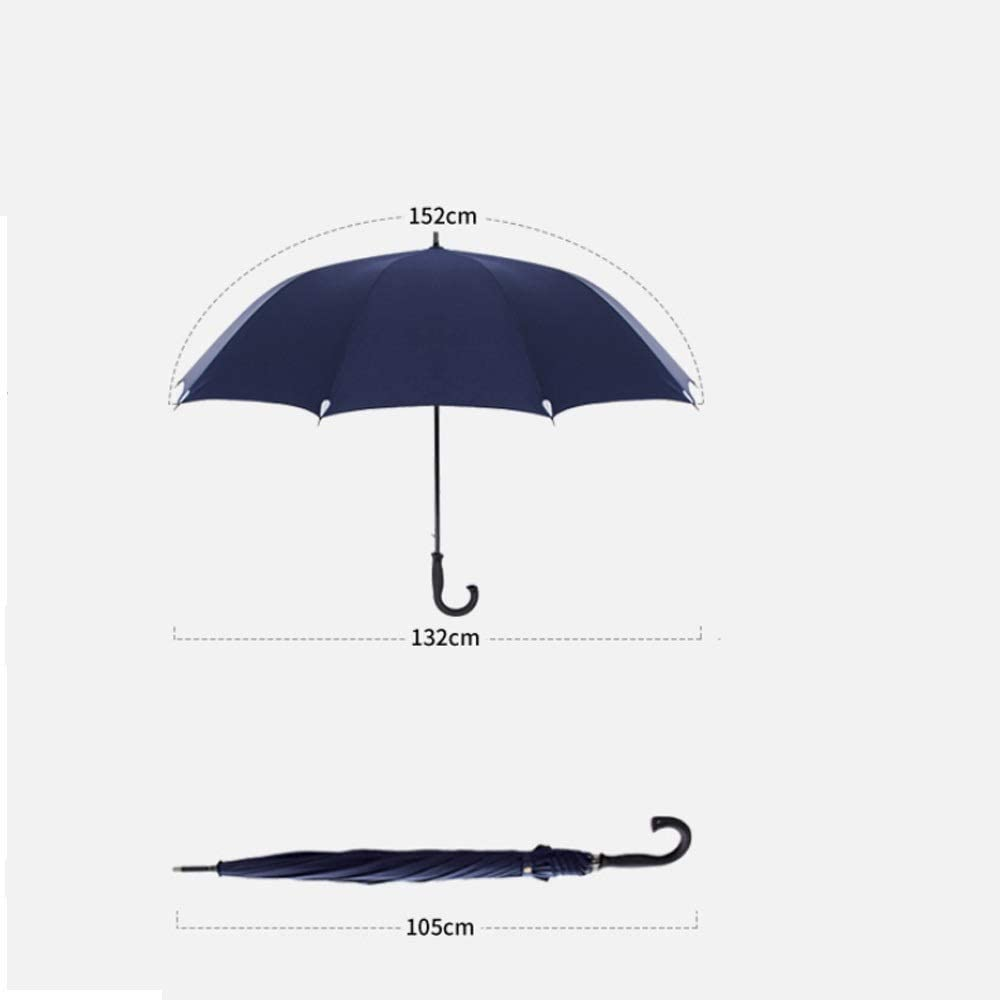Wuzhongdian Sun Umbrella,Foldable,Sunscreen Coating Color : Black Windproof UV Protection Big Straight Umbrella with C-Shaped Handle