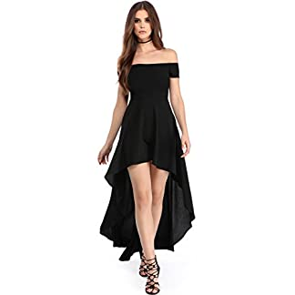 Boldgal Women's Western Short wear Off Shoulder Dress (Black) 41Kq5gY 2BiWL