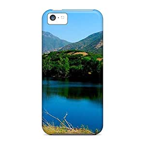 CaroleSignorile Scratch-free Phone Cases For Iphone 5c- Retail Packaging - Lovely River In The Valley